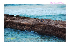 Romancing in the waters (coold) Tags: sunset beach vizag vizagbeach