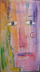 THINK PEACE (Holly Hinkle Contemporary Folk Art) Tags: peace think we have thinkpeace andlivepeace andthentherewillbe