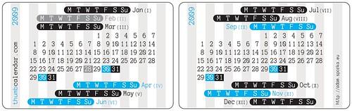 Thumb Calendar 2009 Edition