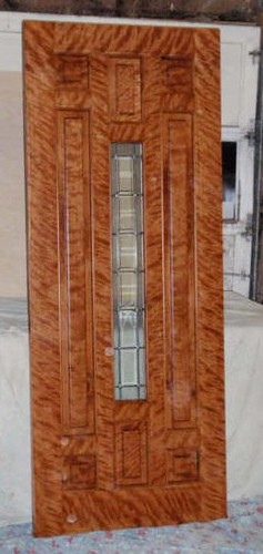 Custom Made Entry Door Curly Maple Amp Curly Cherry Leaded