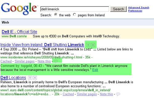 Google's SearchWiki