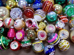 Closeup of my prettier ornaments