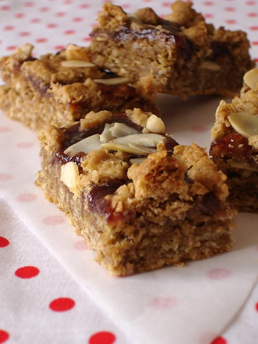Chewy strawberry almond bars