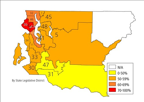 Partial Prop  1 Vote Breakdown – Seattle Transit Blog
