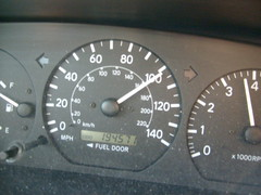 Speedometer During Our Drive