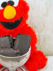 Bitter Chocolate Biscuits feat Elmo