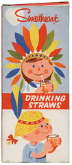 sweetheart drinking straws (maraid) Tags: kids children drink indian drinking nativeamerican packaging sweetheart headdress staws
