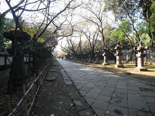 stone-paved approach of Ueno Toshogu shrine