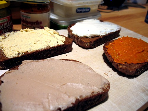 Different types of sandwich spread