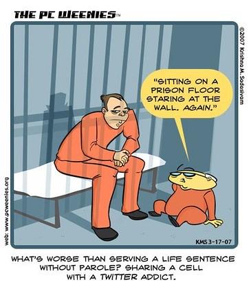 condividere la cella con un fanatico di Twitter