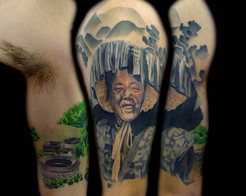 Hakka Chinese Tattoo Half Sleeve. This is a composite of my Hakka Chinese