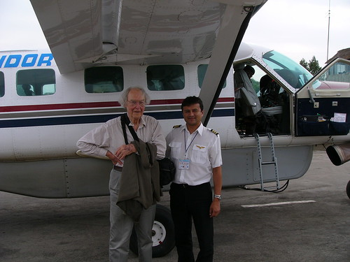 On our return to Ica Airport, our co-pilot let me have his picture taken with the Caravan.