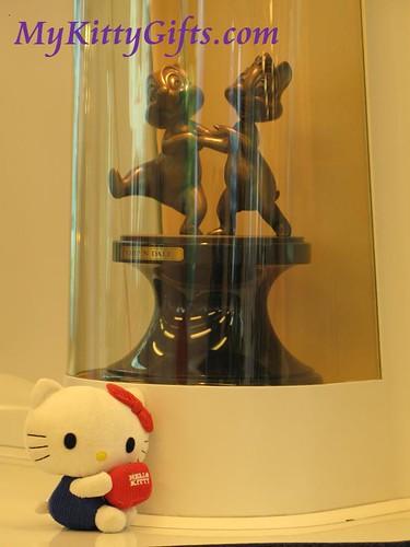 Hello Kitty with Cartoon Characters on Hong Kong Disneyland Train