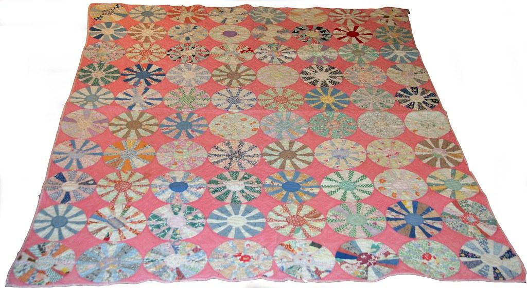 Great Grandma's Pink Dresden Baby Quilt