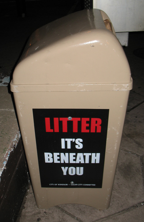 Litter It's Beneath You