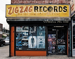 STORE FRONT: The Disappearing Face Of New York: ZIG ZAG Records (James and Karla Murray Photography) Tags: nyc newyorkcity records storefront zigzag jamesandkarlamurray