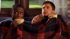 Gus and Shawn drink soup