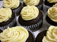 Chocolate Cupcake with Orange Creamcheese Frosting
