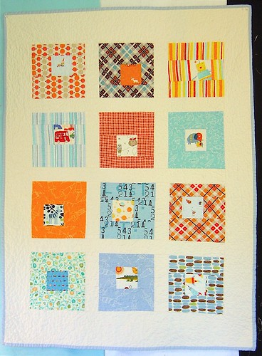 Another Square in Squares Baby Boy quilt!