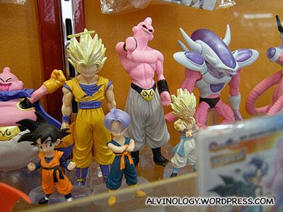 Dragonball figurines
