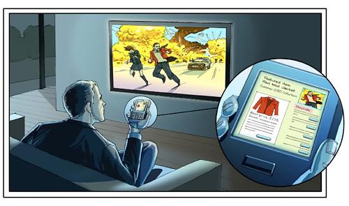 imagen del funcionamiento de la publicidad móvil en televisión