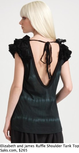 Saks.com - Elizabeth and James - Ruffle-Shoulder Tank Top