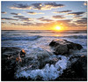 Sunset Pirouette (Panorama Paul) Tags: sunset nohdr melkbosstrand sigmalenses wavesplash nikfilters vertorama nikond300 wwwpaulbruinscoza paulbruinsphotography