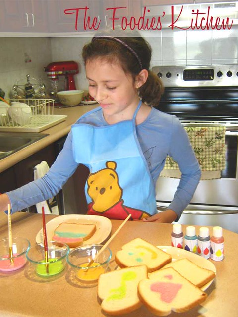Cooking with Kids: Painted Toas