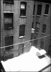 Incoming Snow (Zeno_Cosini) Tags: winter bw snow newyork emotions bncitt