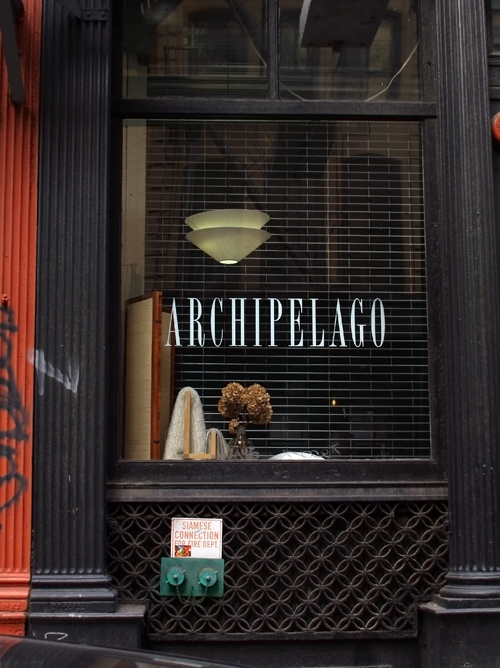 TriBeCa shop window