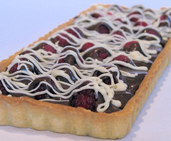 double chocolate raspberry tart 2863