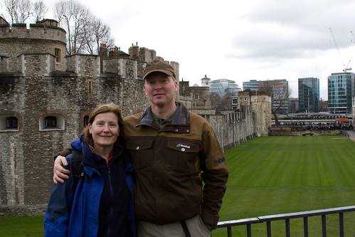 Dave and Lisa outside Tower of London