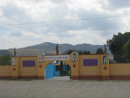 A roadside hotel in Mexico