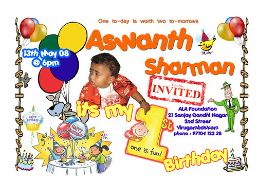 Birthday Invitation Card 01
