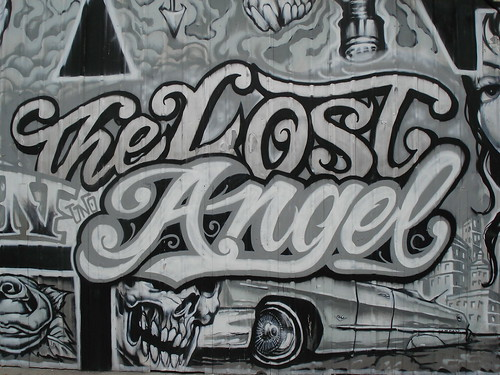 The Lost Angel Mural LosAngeles Graffiti Art; ← Oldest photo