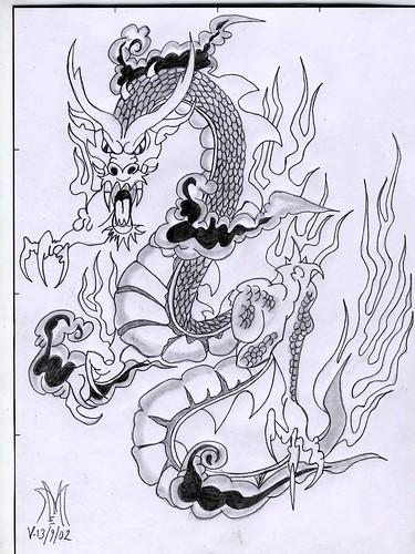dibujos de los tatuajes. TATUAJE DE DRAGON 001 Este lo