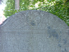 Grave art on an 18th century gravestone at the Old Burying Ground, Halifax (theangelas) Tags: canada novascotia gravestone halifax graveart