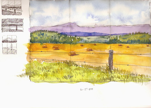 Watercolor Sketch - Cades Cove, TN