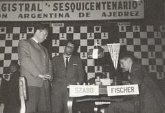 László Szabó and Bobby Fischer, 1960