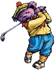 Grateful Dead dancing golfer bear