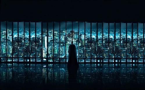 Batman vigilando