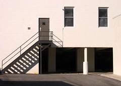 shadow steps (alankin) Tags: windows light 15fav philadelphia stairs buildings doors shadows pennsylvania philly walls mountairy escaleras mtairy germantownavenue canonpowershota610 45views niknala 23june2007 0800022bu