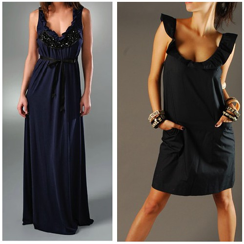 vera wang lavender label, loeffler randal, black, navy, dresses