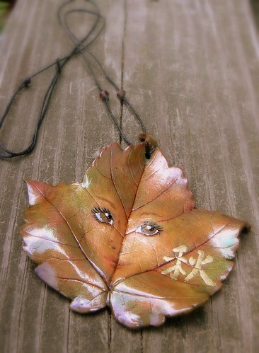 Autumn Sycamore Leaf Necklace