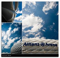 The Arena (Hussain Shah.) Tags: world blue sky cup clouds d50 germany munich bayern nikon stadium sigma arena opening 1020mm polarizer kuwaiti shah hussain allianz muwali