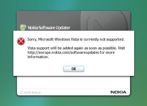 Nokia Software Updater b0rken