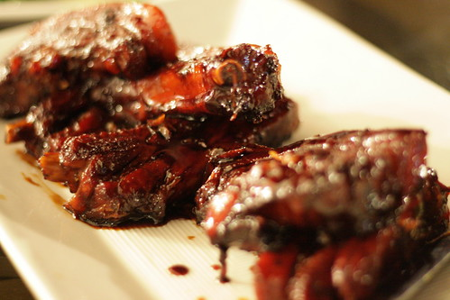 ribs in honey sauce (by mintyfreshflavor)