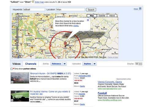 regionale Suche von YouTube