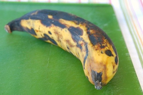 a very ripe plantain