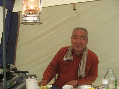 Sato-san at breakfast